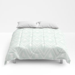 Etched Zig Zag Pattern in Mint Comforters