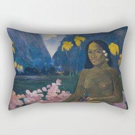 Paul Gauguin - Te aa no areois (The Seed of the Areoi) Rectangular Pillow