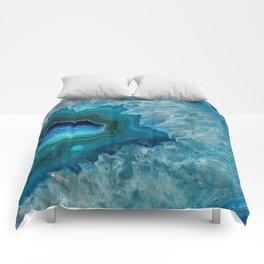 Teal Druzy Agate Quartz Comforters