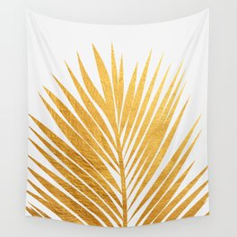 Golden leaf III Wall Tapestry
