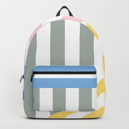 Yellow and grey stripe colors Backpack