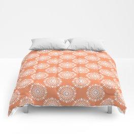 Kitchen orange silverware Comforters