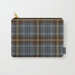 Faded Johnstone Scottish Tartan Carry-All Pouch
