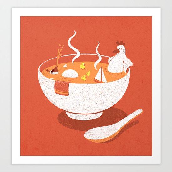 La Chicken Soup Art Print