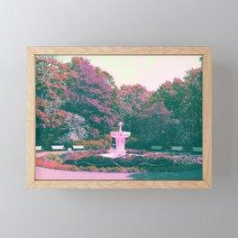 White fountain Framed Mini Art Print