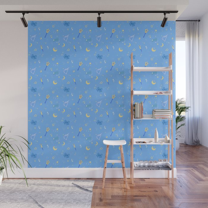 Sailor Mercury Pattern Wall Mural
