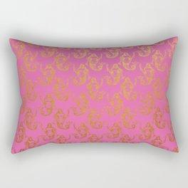 Pink Gold Mermaids Rectangular Pillow