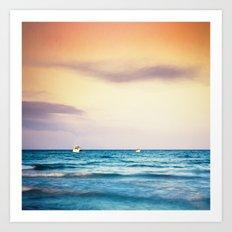 boats on the Mediterranean Art Print