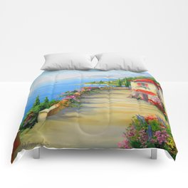 The town by the sea Comforters