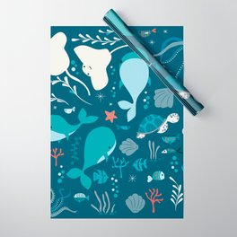 Sea creatures 004 Wrapping Paper
