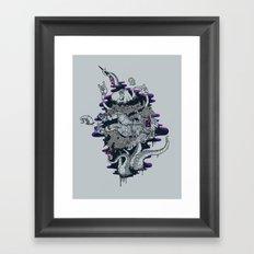 Liquid journey Framed Art Print