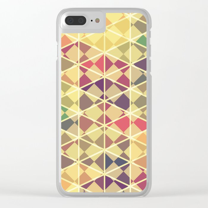 Rainbow pattern colorful wall art Clear iPhone Case