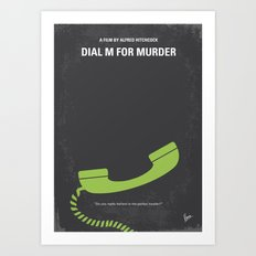 No328 My Dial M for Murder minimal movie poster Art Print