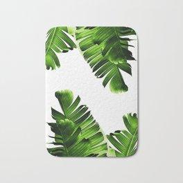 Green banana leaf Bath Mat