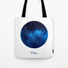 Orion Constellation Dark blue night Tote Bag
