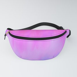 Hand painted pink lilac blue watercolor brushstrokes Fanny Pack