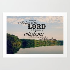 Proverbs 9 Beginning of Wisdom Art Print