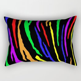 Rainbow Tiger Stripes Rectangular Pillow