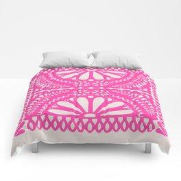 Fiesta de Flores Pink Comforters