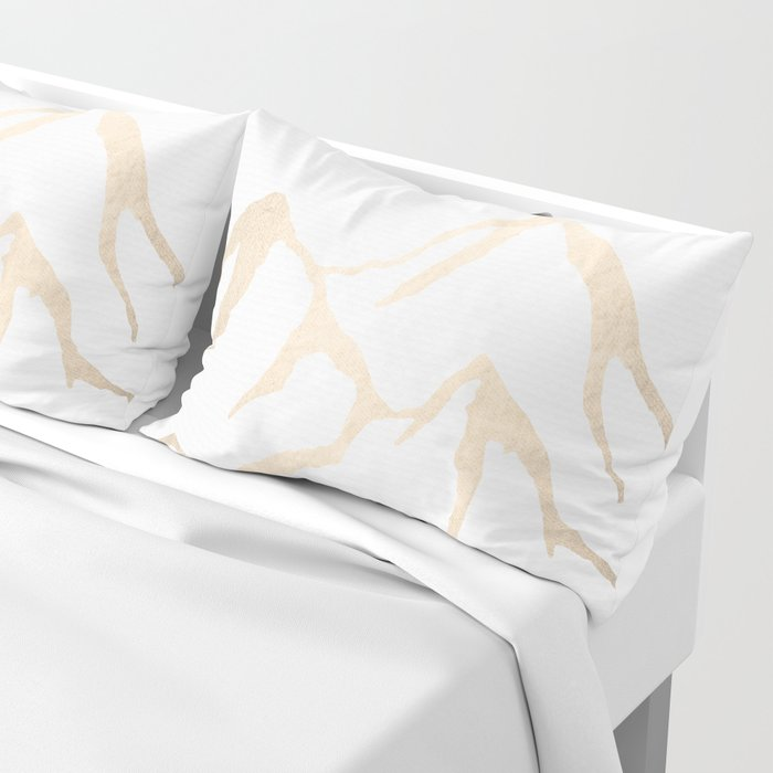 Adventure White Gold Mountains Pillow Sham