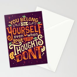 Thoughts are only thoughts Stationery Cards