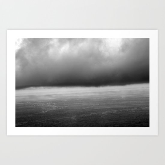 grey skies Art Print