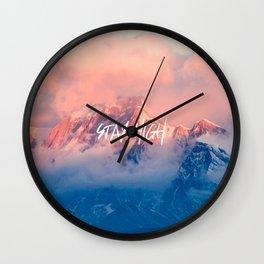 Stay Rocky Mountain High Wall Clock