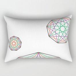 Nonagon Triad Rectangular Pillow