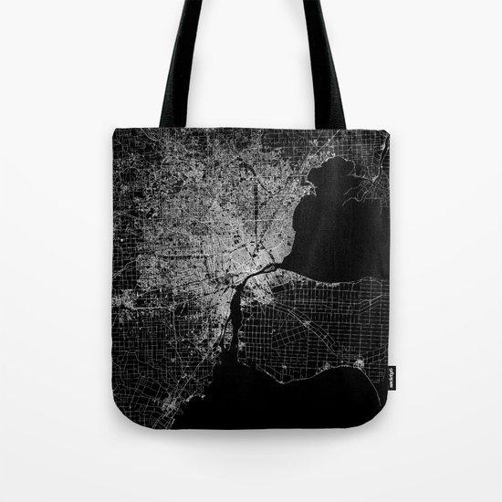 Detroit map  Tote Bag