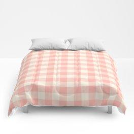 PASTEL GINGHAM 02, blush pink squares Comforters
