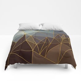 Autumn abstract landscape 2 Comforters