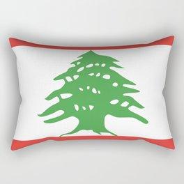 Lebanon flag emblem Rectangular Pillow