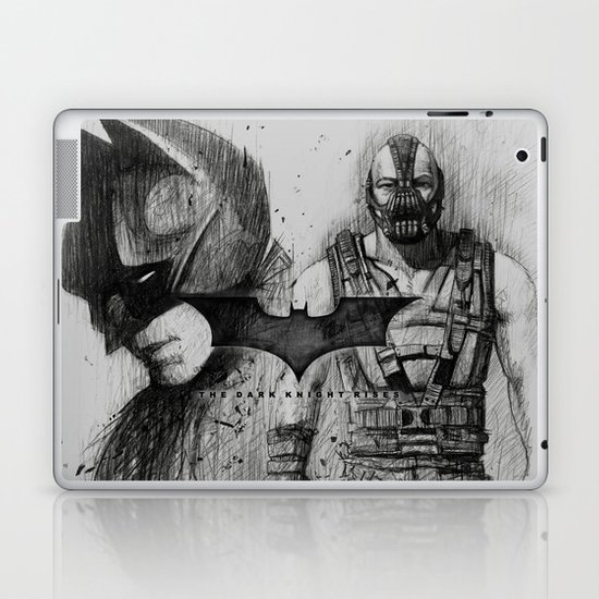Bat In Black (The Dark Knight Rises) Laptop & iPad Skin
