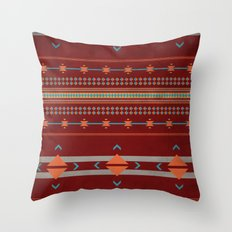 Efinity Pattern Red Throw Pillow