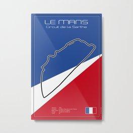 Le Mans Racetrack  Metal Print