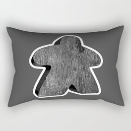 Giant Black Meeple Rectangular Pillow