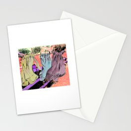 Hanging clothes Stationery Cards