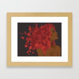 Woman of Bronze Framed Art Print