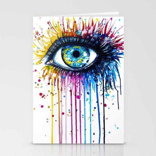 """Rainbow Eye"" Stationery Cards"