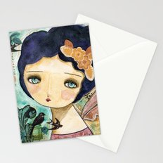 Charity Wings Watercolor Collage Stationery Cards