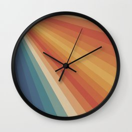 Retro 70s Sunrays Wall Clock