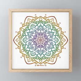 Floral Mandala A - Rainbow Line Framed Mini Art Print