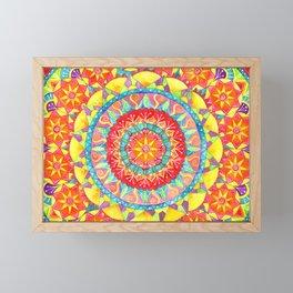 Sun Mandala Framed Mini Art Print