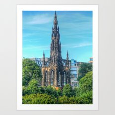 Scott Monument Art Print