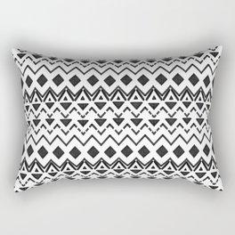 Black and White Modern Hand Drawn Tribal Aztec Rectangular Pillow