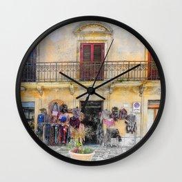 Erice art 1 Wall Clock
