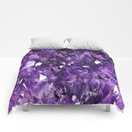 FEBRUARY PURPLE AMETHYST GEMS & CRYSTALS BIRTHSTONE Comforters