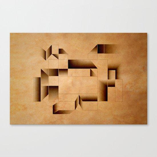 cubist invader. Canvas Print