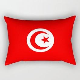tunisia country flag Rectangular Pillow