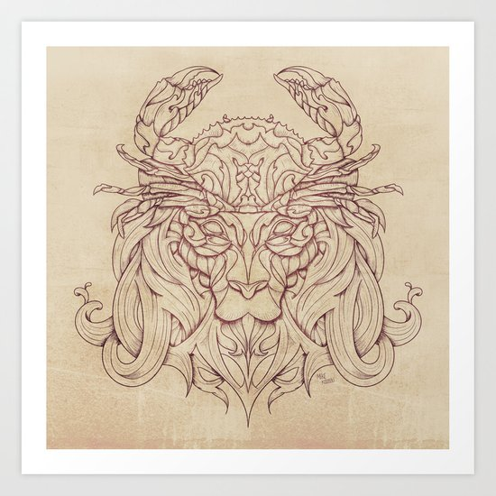 Lion Crab Art Print